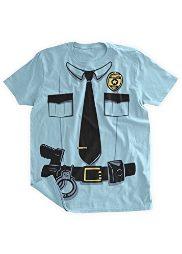 [BumpCovers Cop Sherrif Police Officer costume T-shirt 2XL Blue] (Pun Costumes For Guys)