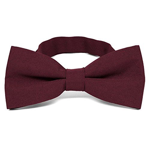 TieMart Dark Burgundy Matte Finish Bow Tie (Burgundy Finish)