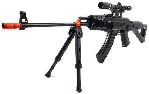 Velocity Airsoft FPS-230 Military Assault Ak-47 Spring Airsoft Gun, Black