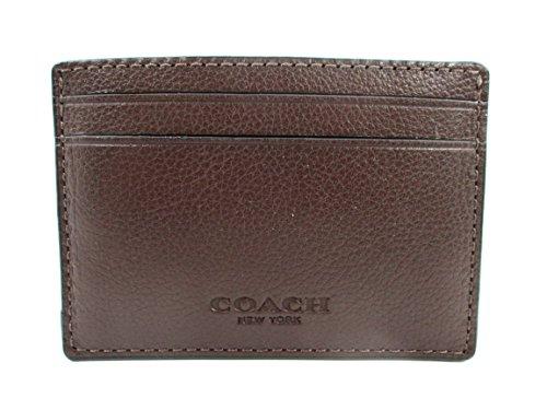 Coach Credit Leather Mahogany F75459