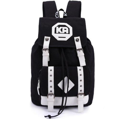 KAXIDY Laptoptasche Rucksack Schultasche Freizeittasche Alltagstasche für Damen & Herren (Schwarz) Schwarz m6dIr