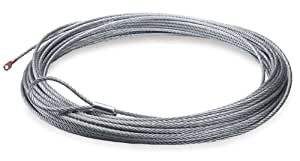 """Warn 74313 80' x 3/8"""" Wire Rope for Powerplant Dual Force HD Winch"""