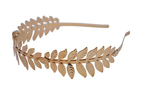 [Greek Goddess Gold Leaf Crown High Fashion Prom Wedding Hairband Women] (Roman Goddess Accessories)