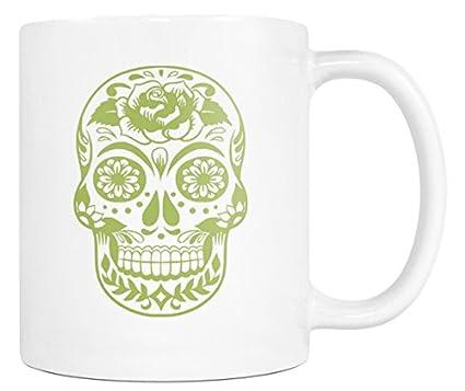 amazon com day of the dead coffee mug dia de los muertos green