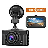CHORTAU Dash Cam 1080P FHD Car Dash Camera 3 inch Dashboard Camera with Night Vision, 170°Wide Angle, Parking Monitor, Loop Recording
