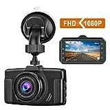 CHORTAU Dash Cam 1080P FHD Car Dash Camera 3 inch Dashboard Camera with Night Vision, 170°Wide Angle, Parking Monitor, Loop Recording