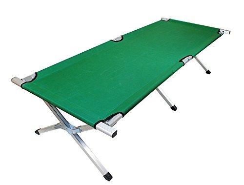 Metall Feldbett 190cm 3 Farben Klappbett Bett Klappbar Faltbett Campingbett #797, Farbe:Grün