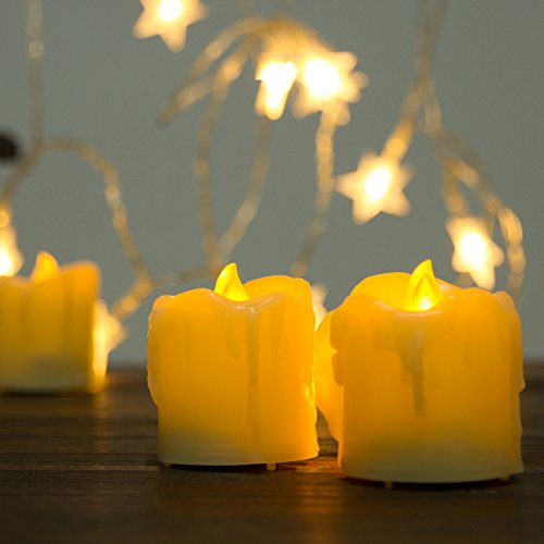 Beichi Timer Flameless Candles Flickering, LED Votive Unscented Candles in Warm Yellow Light, Battery Operated Dripless Small Candles, 500+ Working Hours, D1.5 xH1.89, Set of 9