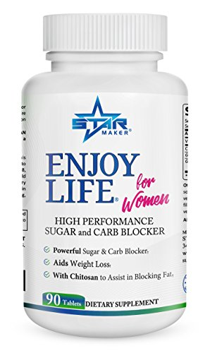 Enjoy Life Sugar and Carb Blocker for Women - A Powerful Keto Weight Loss Carb Blocker with Garcinia Cambogia, Gymnema - Eat Your Favorite Foods While Still Losing Weight, 90 Natural Diet Pills