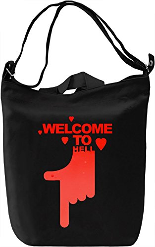 Welcome To Hell Borsa Giornaliera Canvas Canvas Day Bag| 100% Premium Cotton Canvas| DTG Printing|