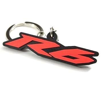 yamaha keychain. yamaha yzf r6 yzf-r6 yzfr6 key chain fob ring logo emblem red keychain