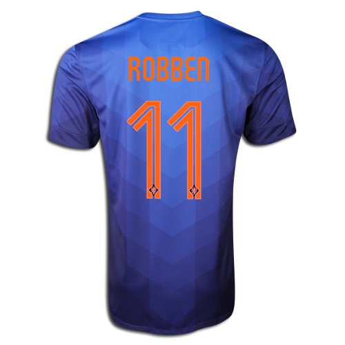 quality design 28e9a 881af Amazon.com   Nike Authentic Arjen Robben  11 Holland Netherlands Dutch 2014  FIFA World Cup X-Large Blue Away Players Issue Soccer Jersey   Sports    Outdoors