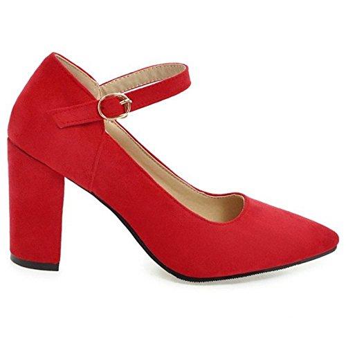 Fibbia Donna Tacco RAZAMAZA Scarpe con Red fAYn4F