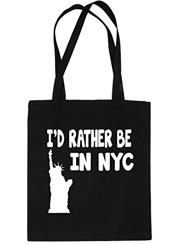 Be I'd New Black Shopping Rather Life In Bag Tote For Print4u York wX06qZZ