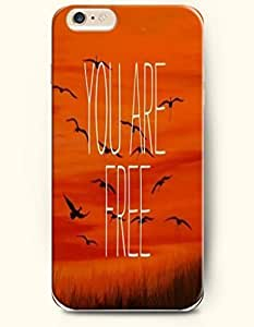 iPhone Case, SevenArc iPhone 6 (4.7) Hard Case **NEW** Case with the Design of You are free - Case for Apple iPhone...