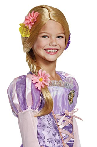 Disguise Rapunzel Deluxe  Costume Wig, One Size