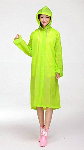 LaoZan Agua Verde Capucha Mujer Con Poncho manzana Chubasquero Lluvia Al Chubasquero Impermeable Resistente 7q7nIxwrzv