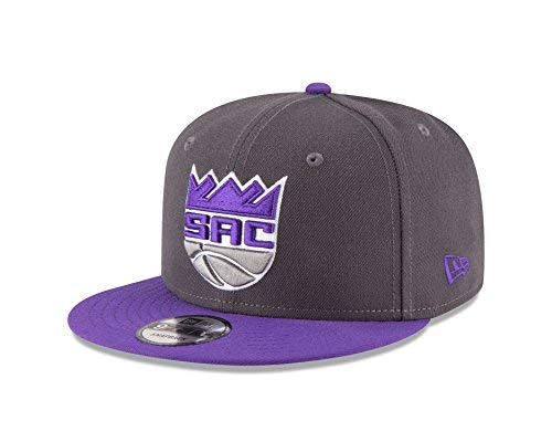 (New Era NBA Sacramento Kings Adult Men NBA 9Fifty 2Tone Snapback Cap,OSFA,Graphite)
