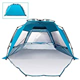 Mounchain Beach Tent Esay Setup, 3-4 Person Family Camping Tent, Waterproof Beach Tent Quick Pop Up for Hiking Picnic Traveling and Fishing Listing