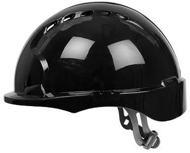 JSP ajh160 - 001 - 100 EVO3 Micro Peak casco de trinquete, con ranuras de ventilación), color negro: Amazon.es: Industria, empresas y ciencia