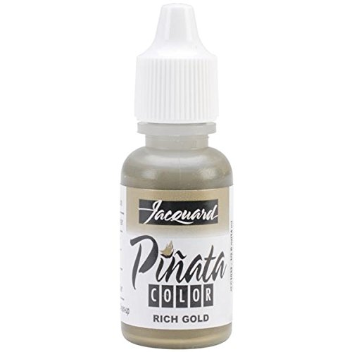 Jacquard Products Jacquard Pinata Color Alcohol Inks, 1/2-Ounce, Rich Gold