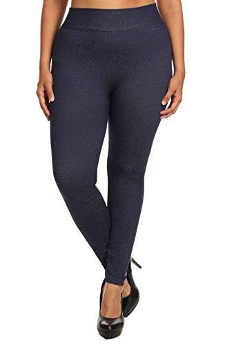 Plus Size Denim Leggings - 6