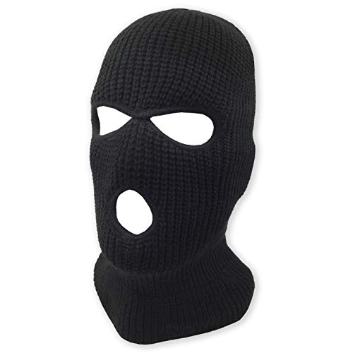 Double Face Halloween (3 Hole Beanie Face Mask Ski - Warm Double Thermal Knitted - Men and Women)