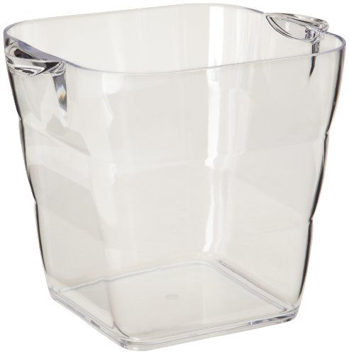 Prodyne AB-17 Viva Acrylic Square Wine Bucket, Clear