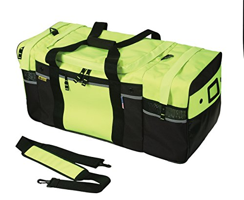 Safety Depot Turnout Gear Bag High Visibility with Removable Strap by Safety Depot