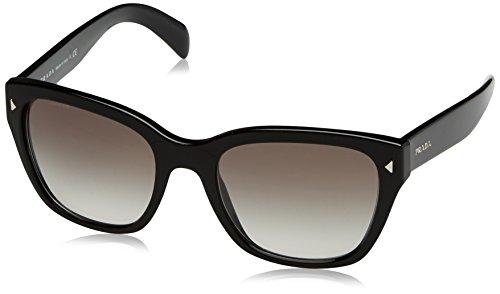 Prada PR09SS 1AB0A7 Black PR09SS Wayfarer Sunglasses Lens Category 2 Size 54mm (Prada 54mm)