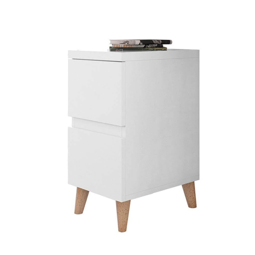 LQQGXLBedside Table Bedside Table Simple Modern Wood-Based Panel Mini Bedroom Furniture Locker Small Side Table (Color : White) by LQQGXL