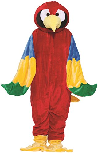 Mascot Economy Costumes (Forum Novelties Men's Parrot Mascot Costume Plush Economy Animal Bird One Size Fits Most)