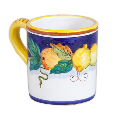 Daphne Hand Painted Italian Ceramic Mug From - Deruta Coffee
