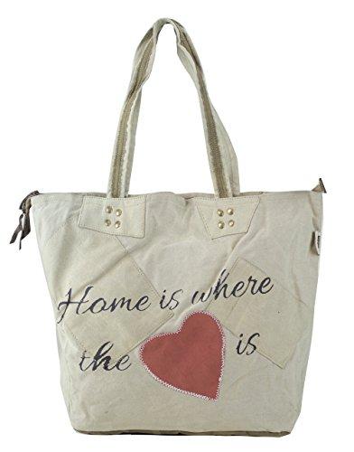 2215ab99fed33 Sunsa Damen Vintage Tasche Shopper Schultertasche Handtasche aus Canvas    Segeltuch mit Leder