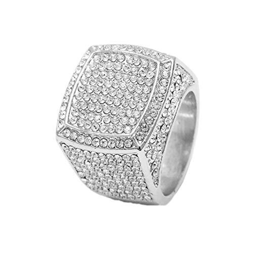 Charles Raymond Bling Bling Hip Hop Iced Out Luxury Men's Ring - 444S (10)