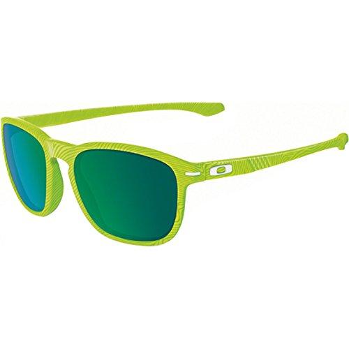 Oakley Men's Enduro Retina Burn Fingerprint/Jade Iridium Sunglasses One Size - Oakley Green