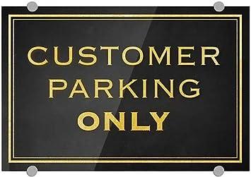 CGSignLab 27x18 Stripes Blue Premium Brushed Aluminum Sign Public Parking