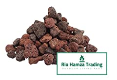 "Red Lava Rocks (12-lbs) All Natural Medium Size Lava Rocks 3/4""-1"" Size Rock  Rio Hamza Trading offers a 100% all natural lava rock product from our bulk lots of lava rocks.  All of our lava rock products are sourced by professionals to ensur..."