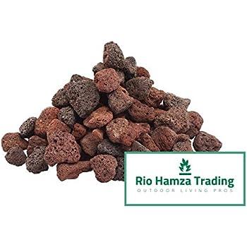 Rio Hamza Trading Red Lava Rocks (12-lbs) All Natural Medium Size Lava Rocks 1