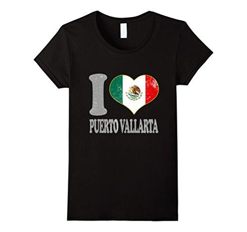 [Womens Puerto Vallarta T Shirt Mexico Teens Adult Kids Cool Attire Large Black] (70s Attire For Womens)