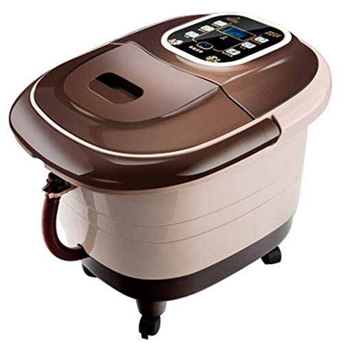 (NSCHJZ Heated Foot Spas for Home Use, Help Sleep Deep Tissue Kneading, for Relaxation and Rejuvenation, Foot Massager Machine, Brown)