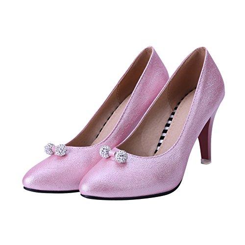Latasa Womens Fashion Pointed-toe High Heel Dress Pumps Shoes Pink 4wvRT3K