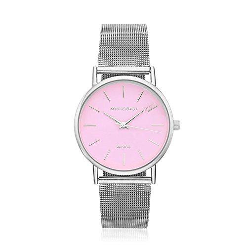 MintCoast Marshmallow - Reloj para mujer malla milanesa color plateado: MintCoast: Amazon.es: Relojes