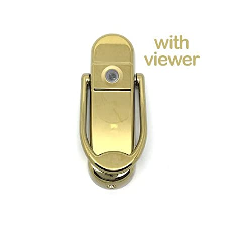 Avocet Affinity Door Knocker Contemporary Style for All Door Types (With Viewer, Chrome)