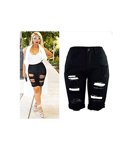 Con Skinny Nero Vita Da Estivi Pantaloni Jeans Oudan Bassa A Zip Alta Donna vqxwT7U5
