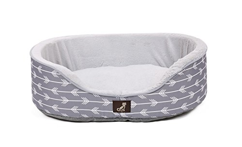 All Pet Solutions Bella Collection of Warm Luxury Dog Bed with Reversible Cushion Washable