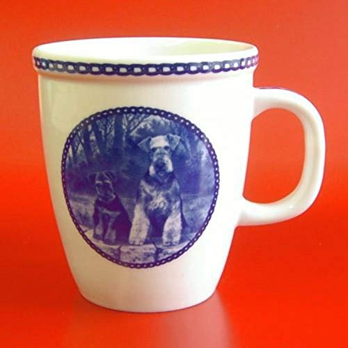 Airedale Terrier - Porcelain Mug made in Denmark Premium Quality and Design from Lekven. Perfect Gift For all Dog Lovers. Size - 4.2 inches.