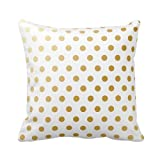 HLPPC Print Polka Dots Pattern Polyester Pillowcase Throw Cushion Cover Square 18 x 18 Inches
