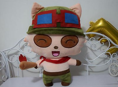 [55CM League of Legends LOL Captain Teemo Big LARGE Plush Doll Toy Pillow Gift] (Dog Puffle Costume Club Penguin)