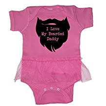 We Match! Unisex Baby - I Love My Bearded Daddy Baby Bodysuit (19 Colors Available)